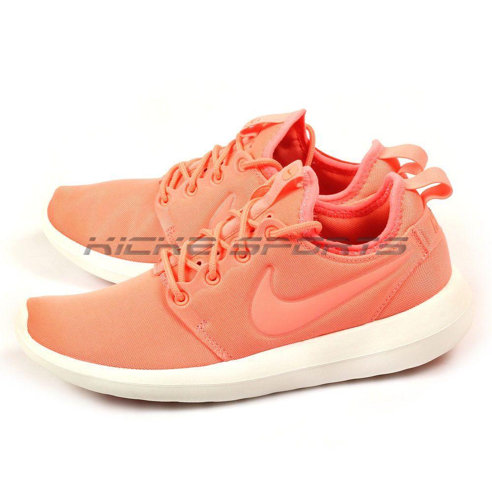 3673d59da4b8b Nike W Roshe Two Atomic Pink Sail Turf Orange Lifestyle Running Shoes 844931  600