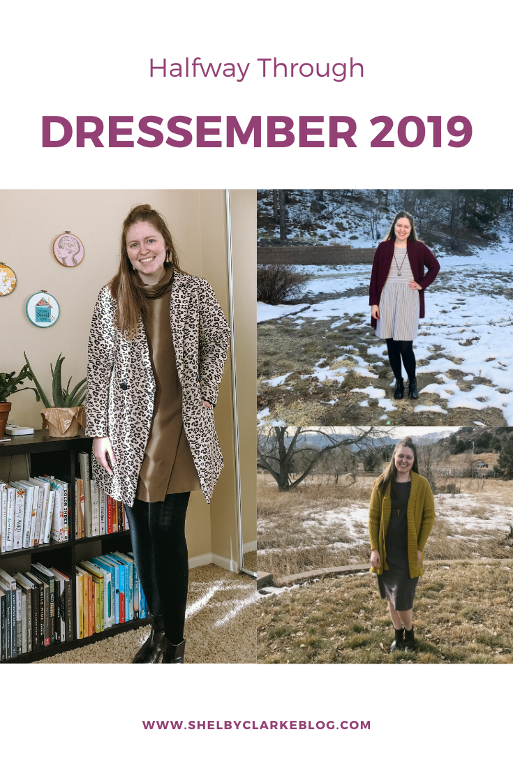 Halfway through Dressember 2019, here are the Dresses and how I styled them for the first 15-ish day! Stylishly Shelby, Colorado Springs Ethical Fashion Blogger