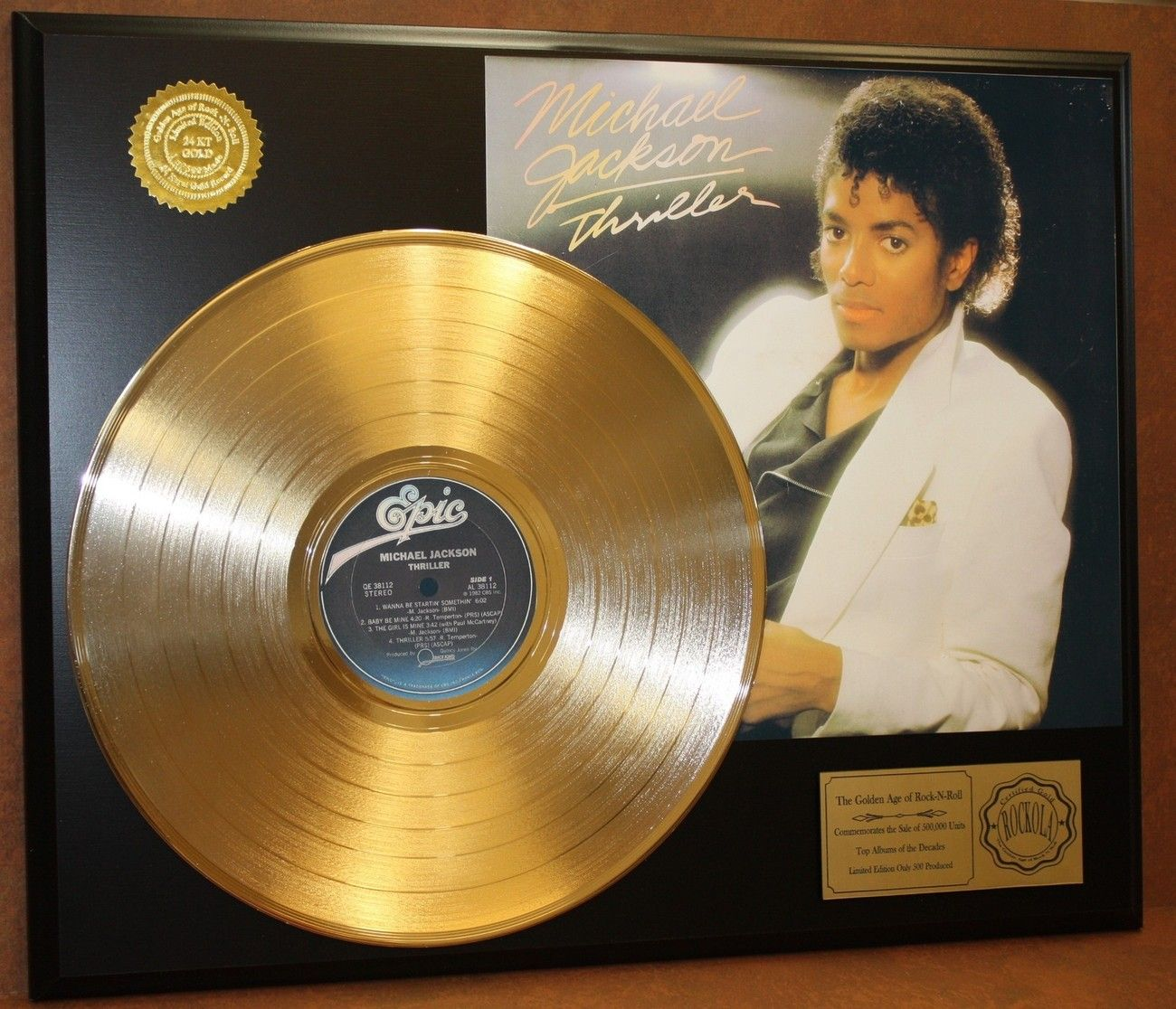 MICHAEL JACKSON//CADRE CD//EDITION LIMITEE//CERTIFICAT DAUTHENTICITE//BAD