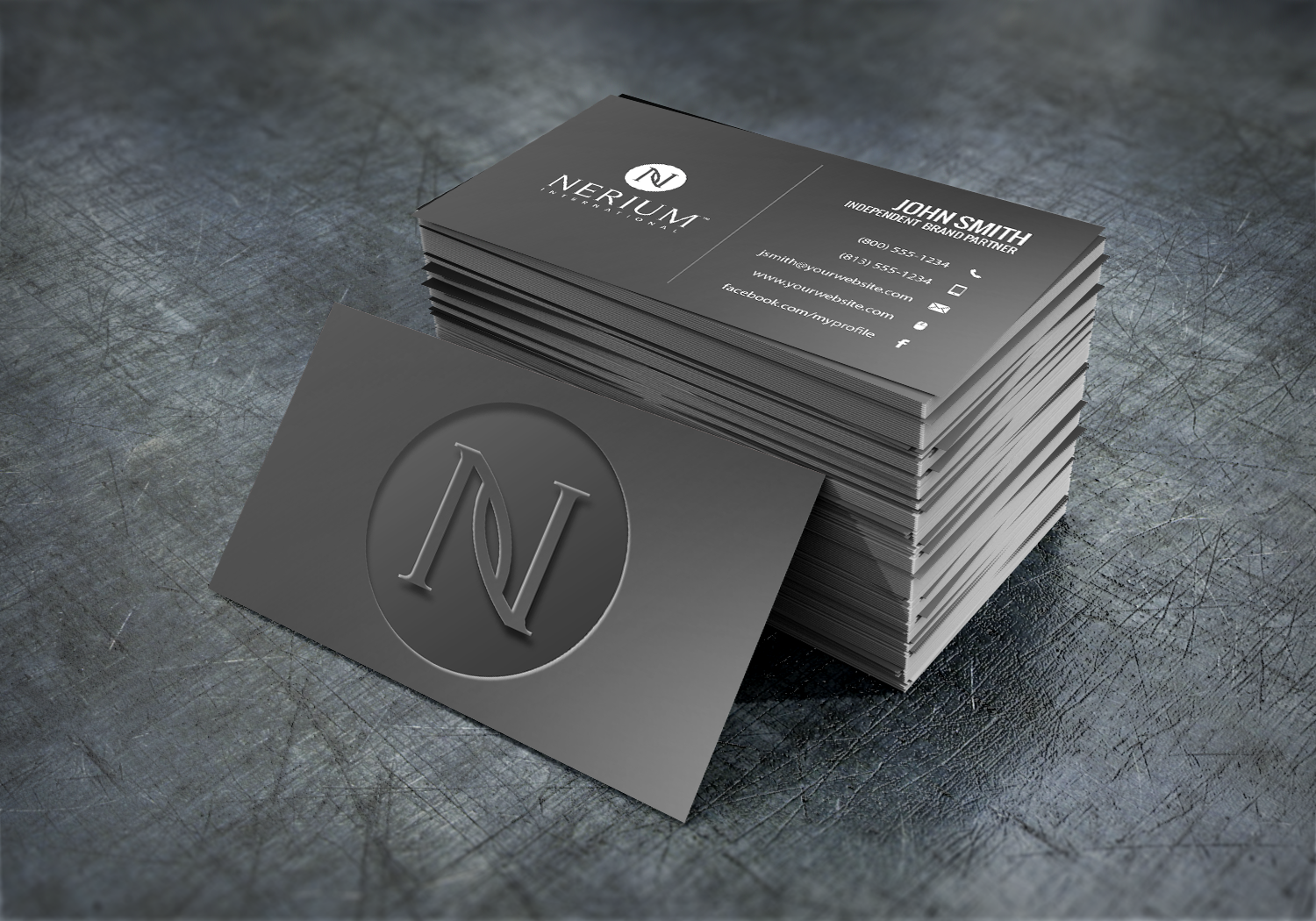 Nerium Brand Partners Will Find Making Their Newest Business Card Easier Than Ever With Our On Site Des Real Estate Business Cards Online Design Business Cards