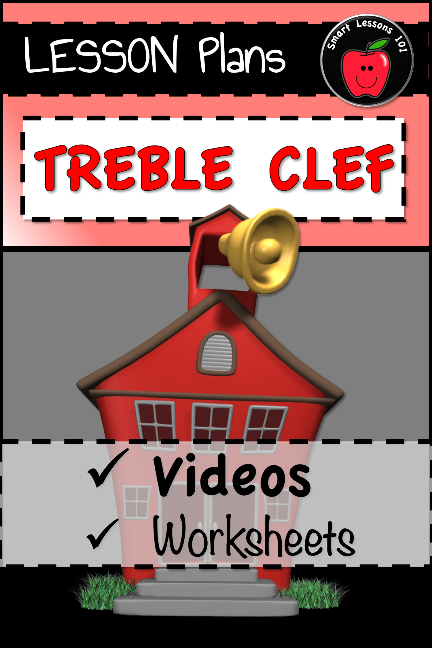 Distance Learning Music Theory Treble Clef Worksheet