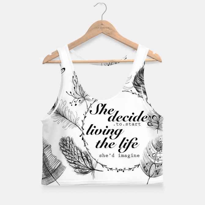 Feathers crop top for yoga and fitness workout Enjoy :)