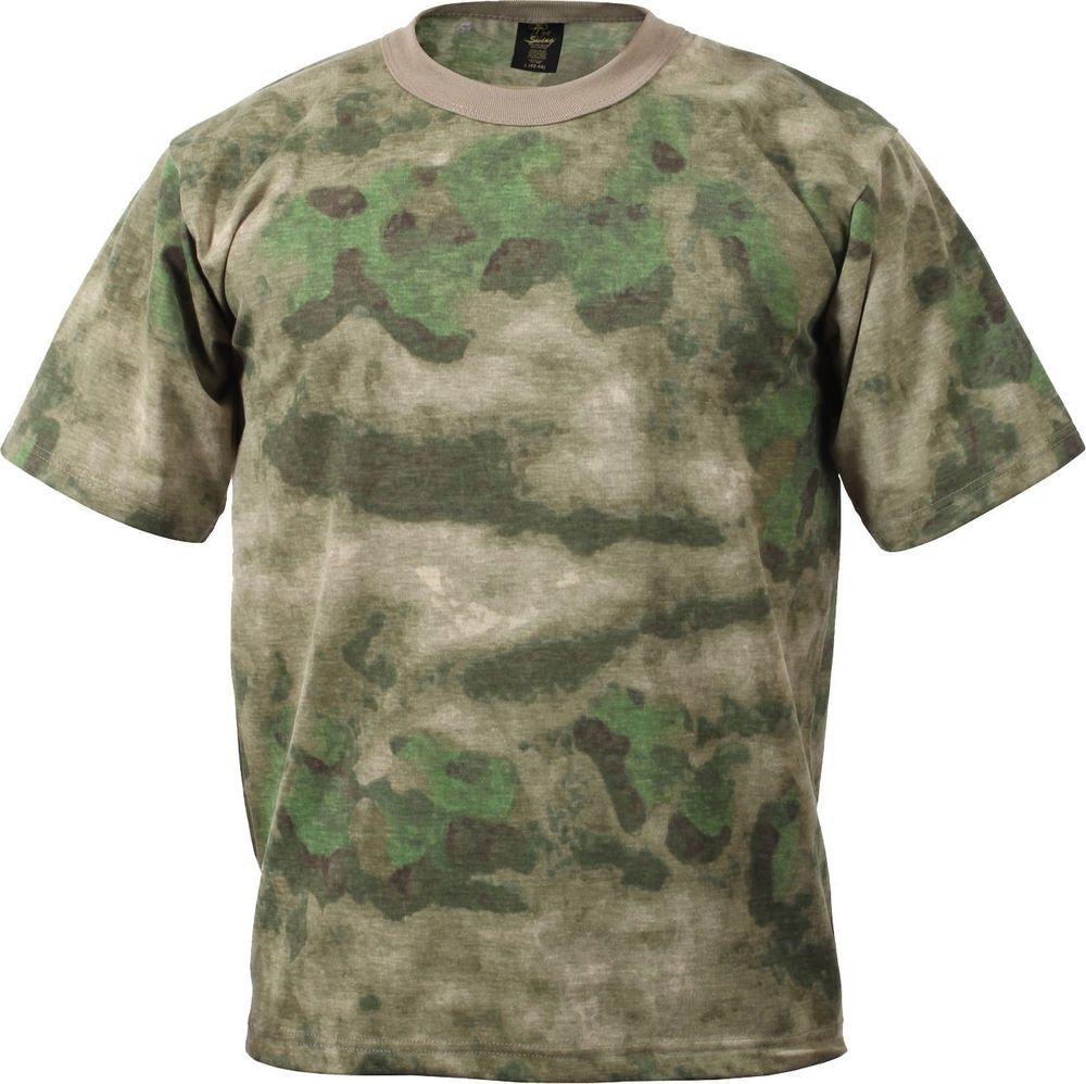 Mens A-TACS FG Tactical Military Short Sleeve T-Shirt  Rothco  TShirt aa7c7b00bc6