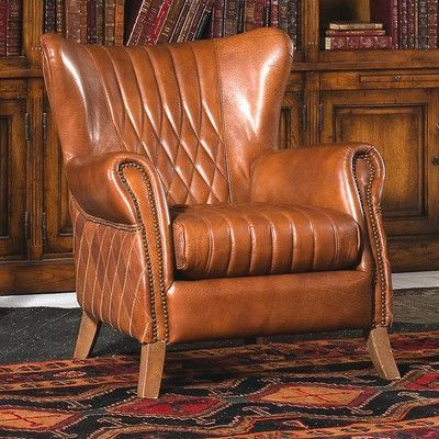 Sarreid Ltd Bugatti Wingback Arm Chair Wingback Chair Accent
