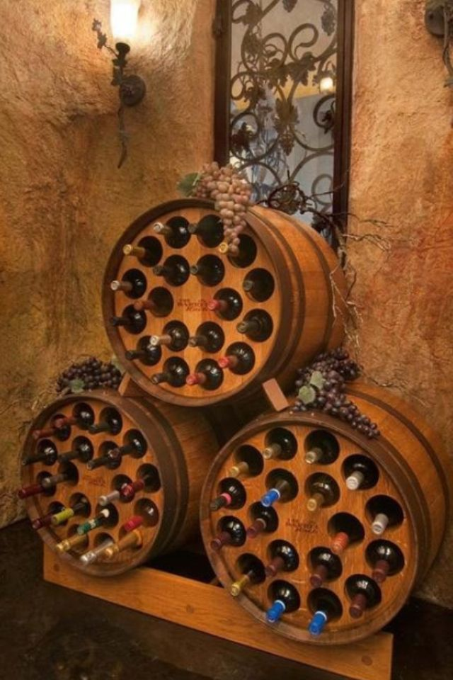 Wine barrel racks...
