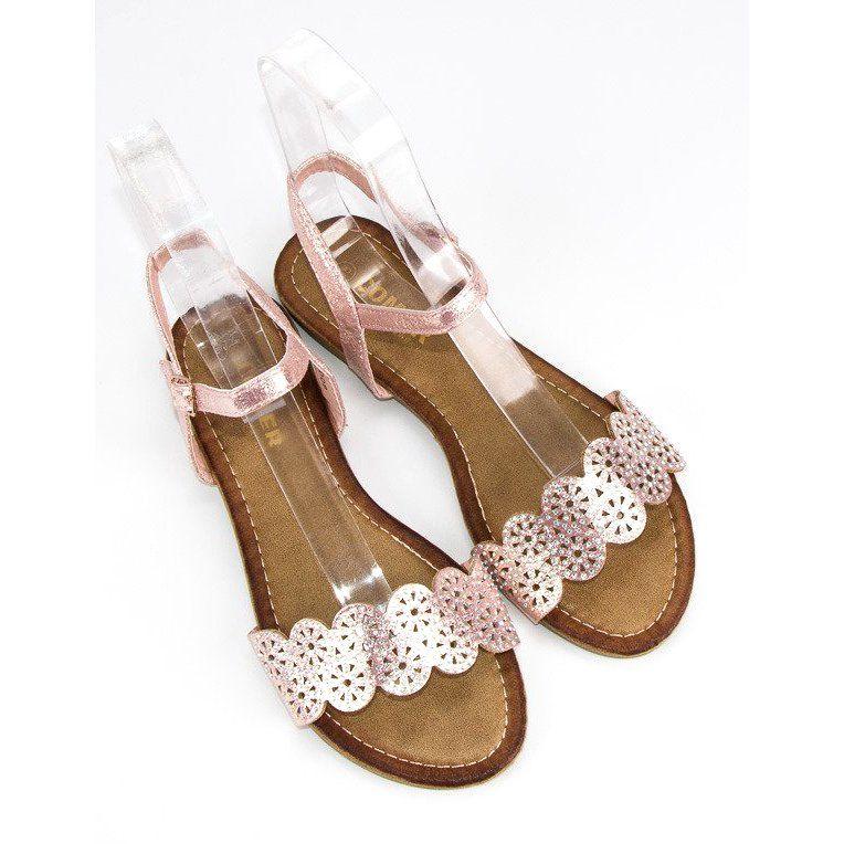 Comer Plaskie Sandaly Zapinane Na Sprzaczke Rozowe Shoes Gladiator Sandals Sandals