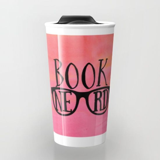 Book nerd travel mug