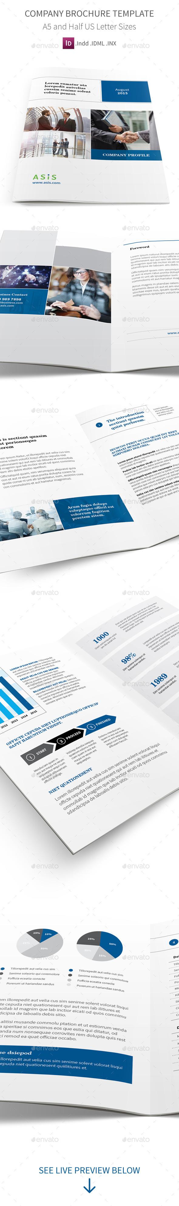 company profile brochure a5 half letter sizes pinterest