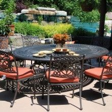 Cast Aluminum Patio Furniture By Beka Dynasty Dining Set W Oval Table My Set Bu Cast Aluminum Patio Furniture Patio Furniture Table Aluminum Patio Furniture