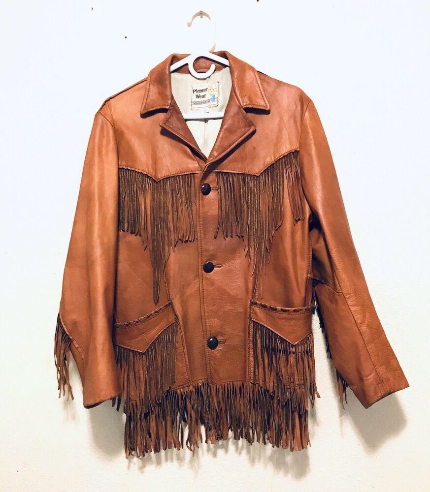 PIONEER WEAR BROWN Vintage Western/Indian SOFT CALF