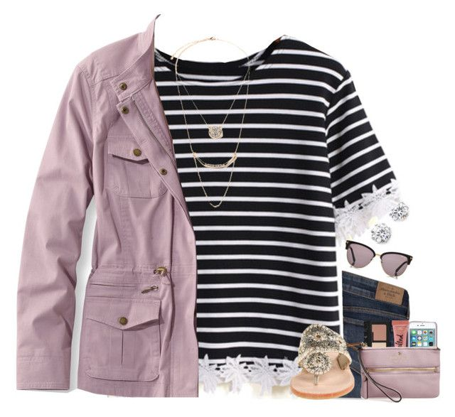 """""""Sydney!"""" by sdyerrtx ❤ liked on Polyvore featuring Kenneth Jay Lane, Abercrombie & Fitch, Jack Rogers, L.L.Bean, Too Faced Cosmetics, NARS Cosmetics, Kate Spade, Forever 21, women's clothing and women"""