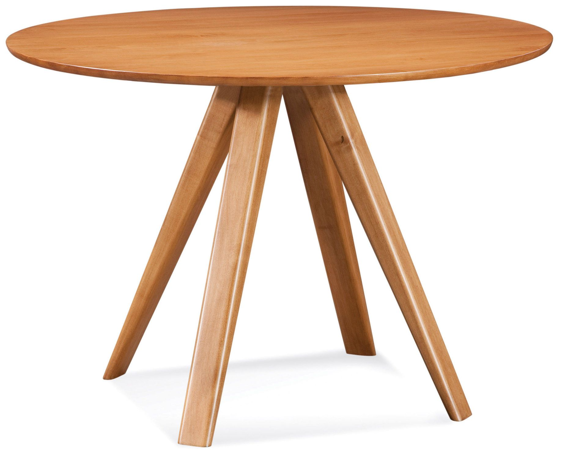 Saloom Furniture Avon Round Maple Dining Table With Strata Texture ...