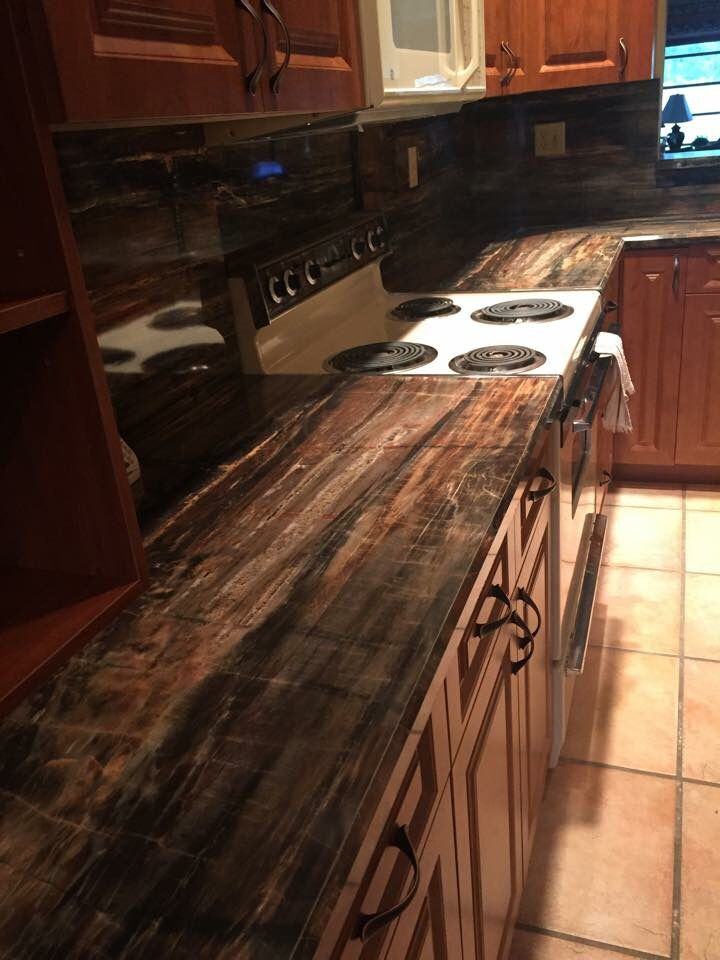 The look of Petrified Wood in Formica laminate!