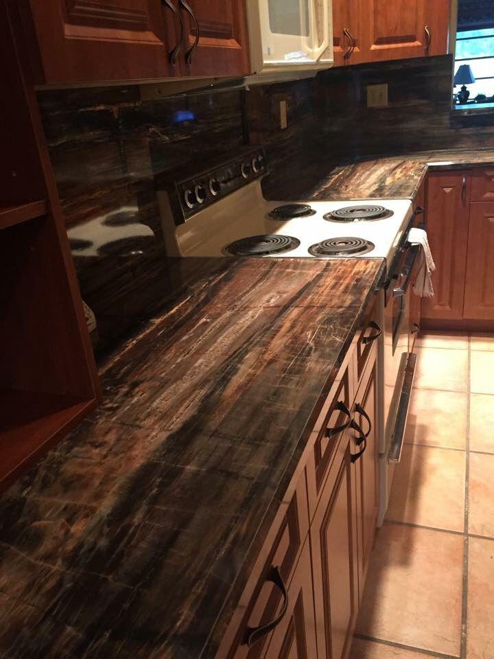 The Look Of Petrified Wood In Formica Laminate Diy Countertops