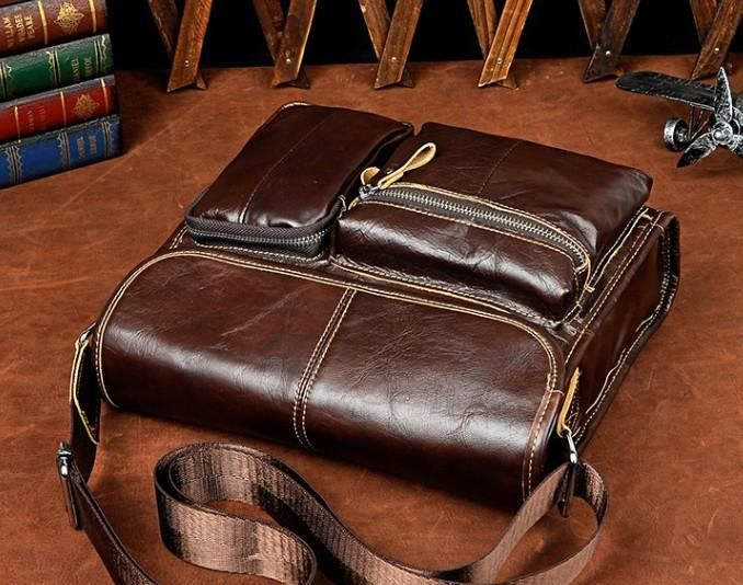 65ba5e7dbbb8 Cool Vintage Leather Mens Small Side Bag Messenger Bag Shoulder Bag fo –  iChainWallets