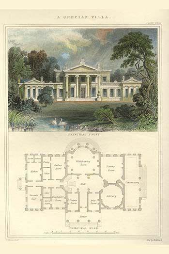 Greek Villa Avec Images Dessin Architecture Maison De Luxe Vieilles Maisons