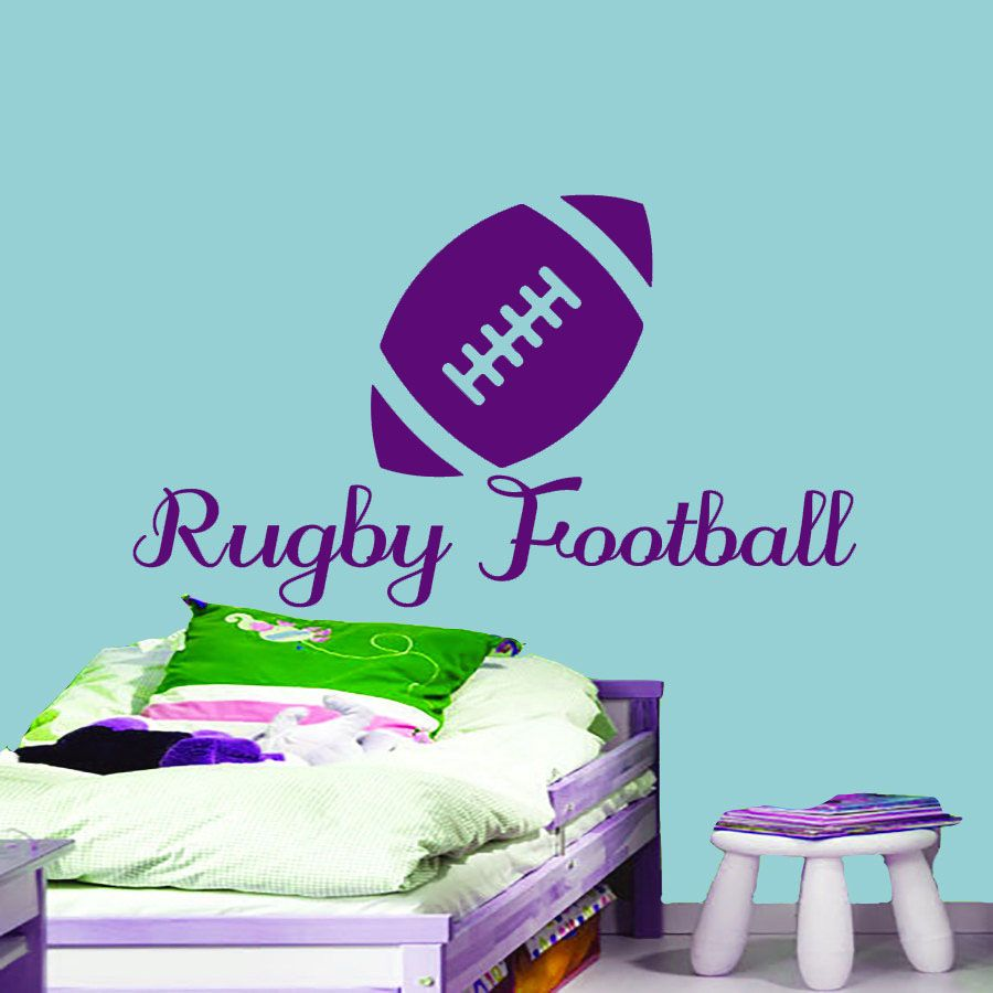 Home interior pic dt design rugby bedroom wall art sticker decal diy home