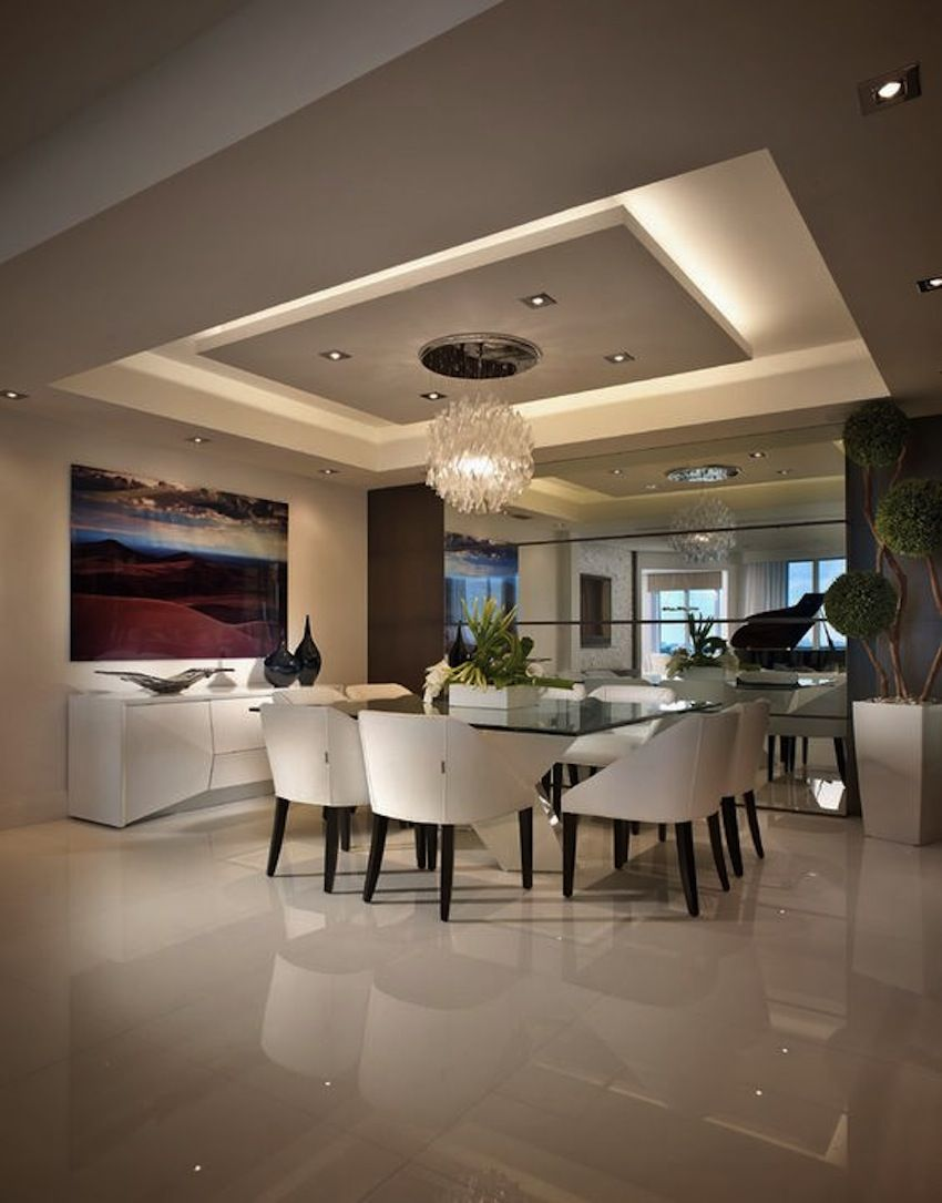 Amazing Modern Glass Dining Tables | House ceiling design ...