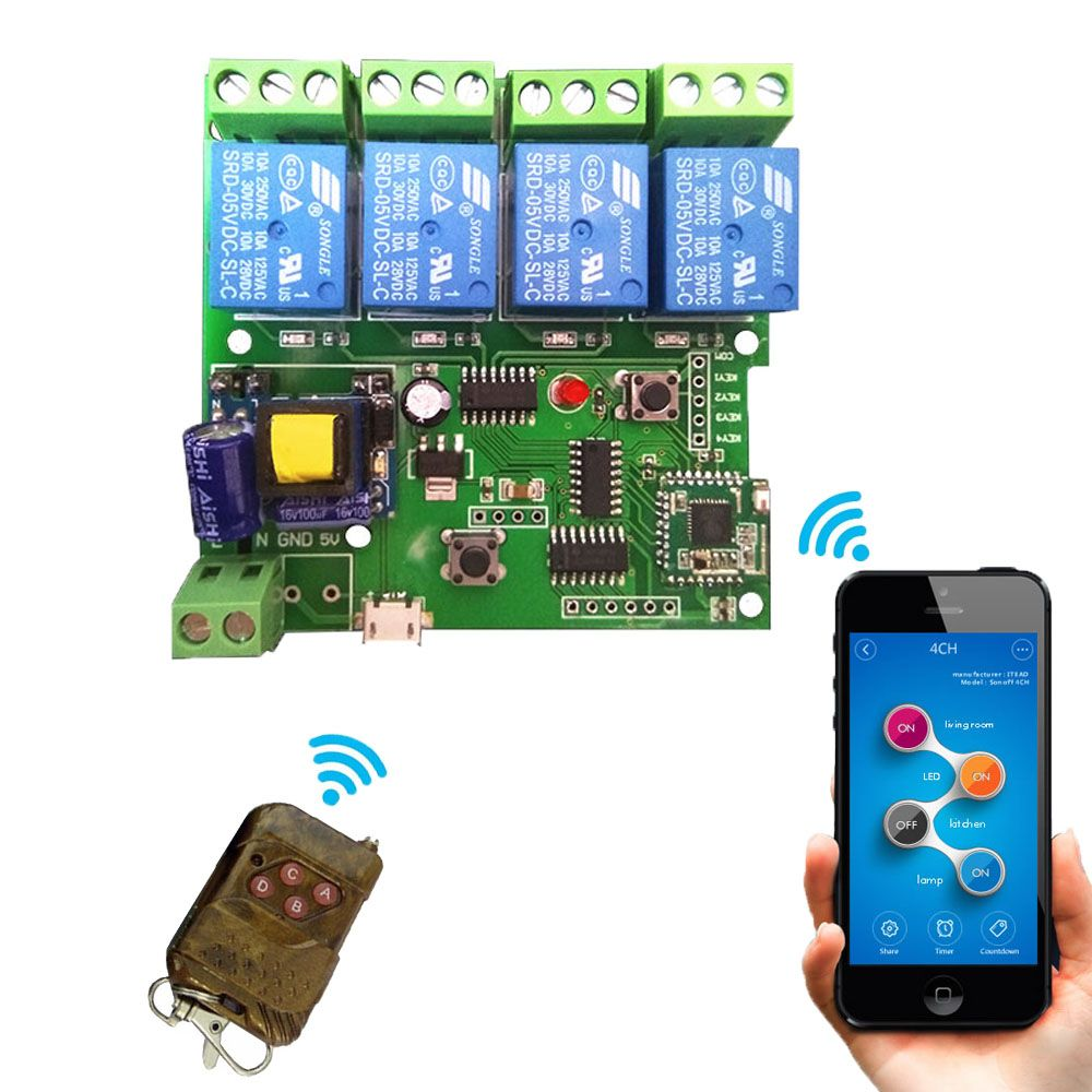 Smart home Automation Modules DIY Wireless Switch Remote Control //Price: $28.28 & FREE Shipping //     #mobile
