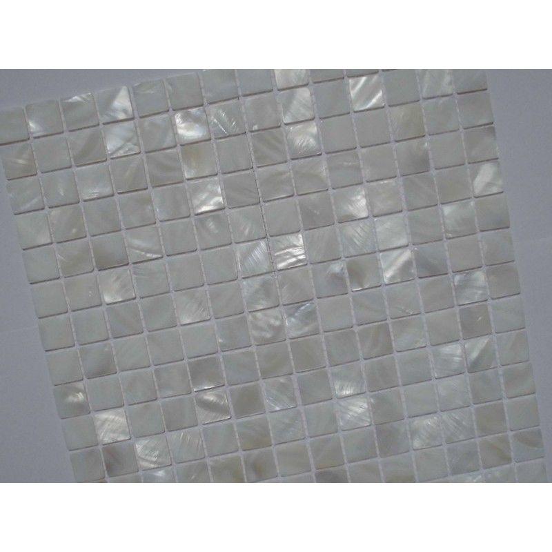 Mother of Pearl Tile Shower Liner Wall Backsplash White Square ...