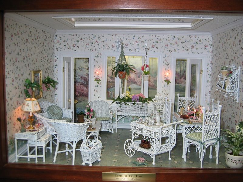 Summer Tee Time Dollhouse Miniature Room Boxes