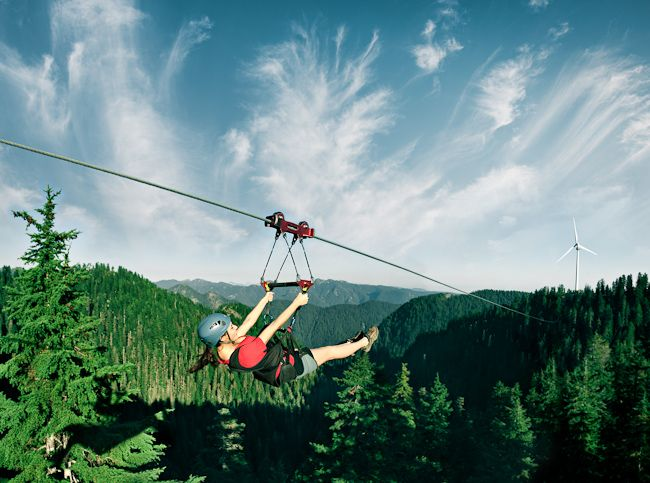 Grouse Mountain Zipline Tours Are Available Year Round There Five Ziplines Which Will Have You Careening Through The Air At Speeds Up To 80 Km Hour