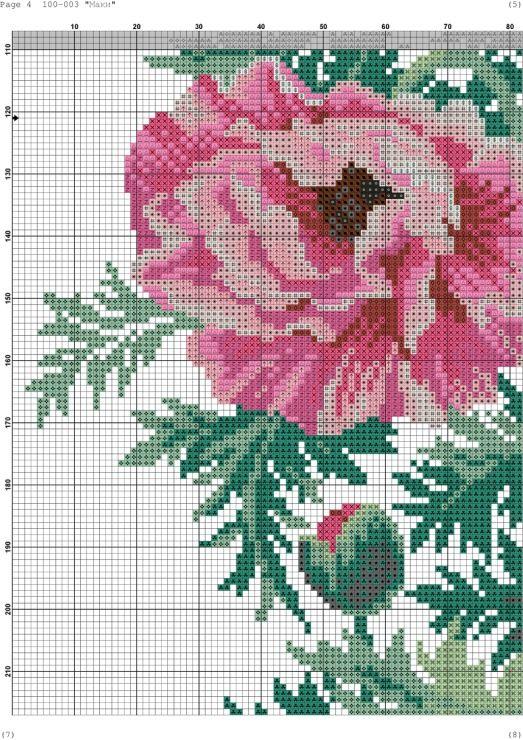 #17 - 543 - ergoxeiro | Цветы, вышитые крестиком, Узоры ...
