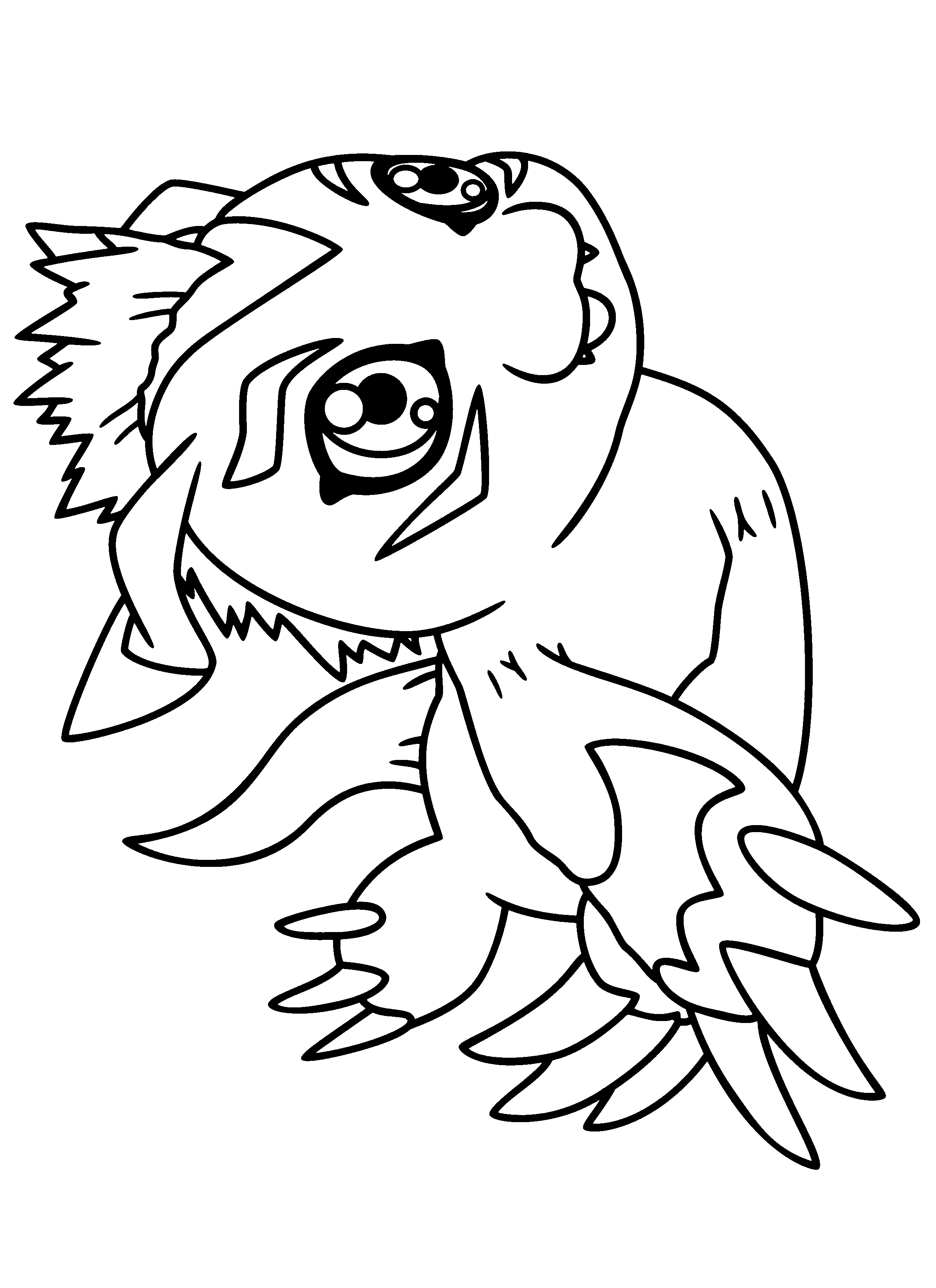 Free Digimon Coloring Page Pages 194 Printable