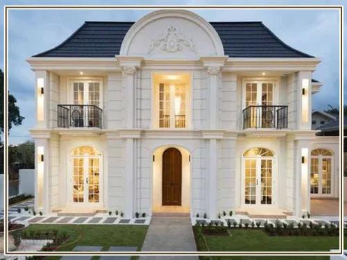 ديكور واجهات منازل حديثة بتصاميم تشطيب واجهات مودرن الجزيرة للديكور وتشطيب الواجهات House Solid Oak Doors House Exterior