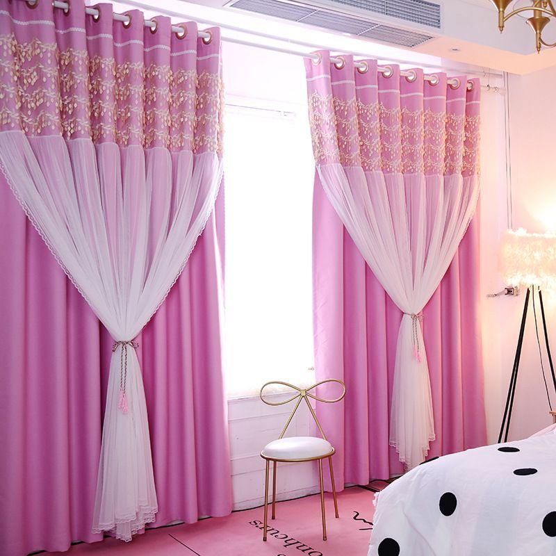 Romantic Hot Pink Sheer Little Girls Bedroom Kids Blackout