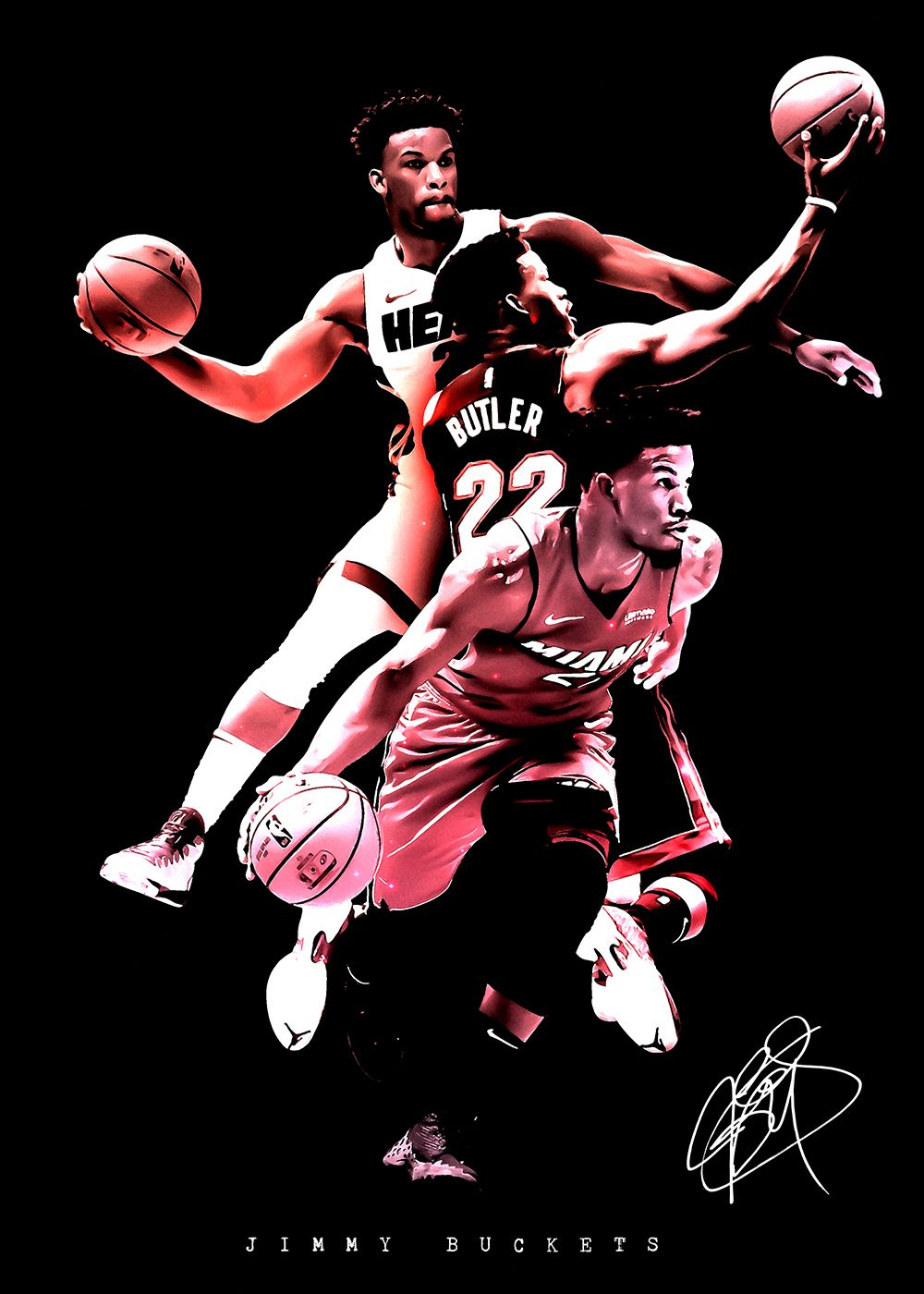 Nba Jimmy Butler Buckets Metal Poster Team Awesome Displate In 2020 Butler Jimmy Miami Heat Sports Graphic Design