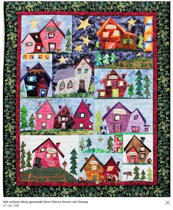 House Quilts : house, quilts, Sulky, Village, Complete, Pattern, House, Quilts,, Quilt, Patterns,, Quilts