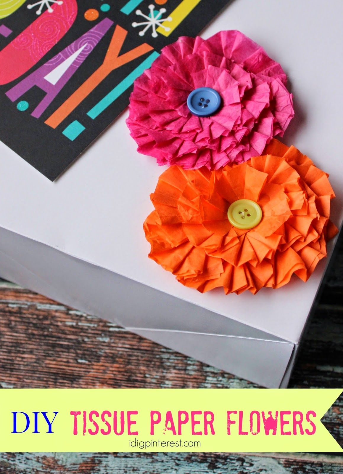 How To Make Decorative Tissue Paper Flowers Diy Ideas Pinterest