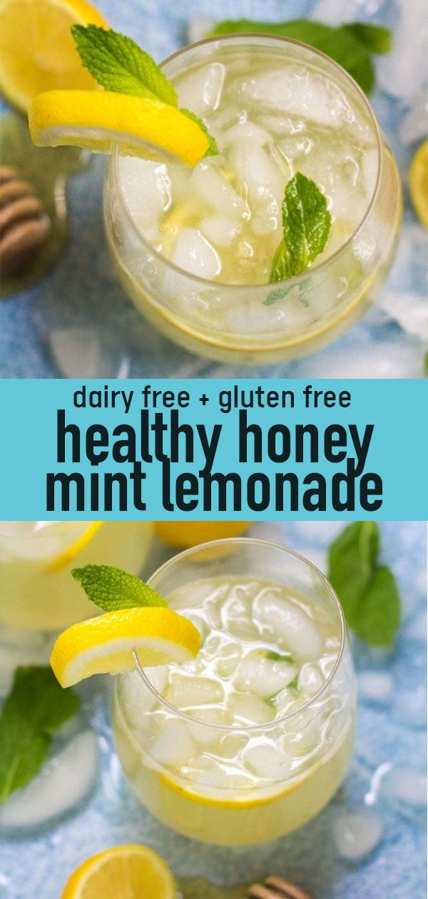 Healthy Honey Mint Lemonade #easylemonaderecipe