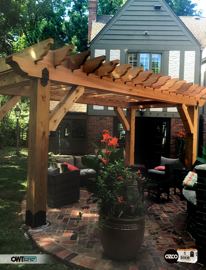 Cedar Pergola Using Owt Hardware Post To Beam And Rafter
