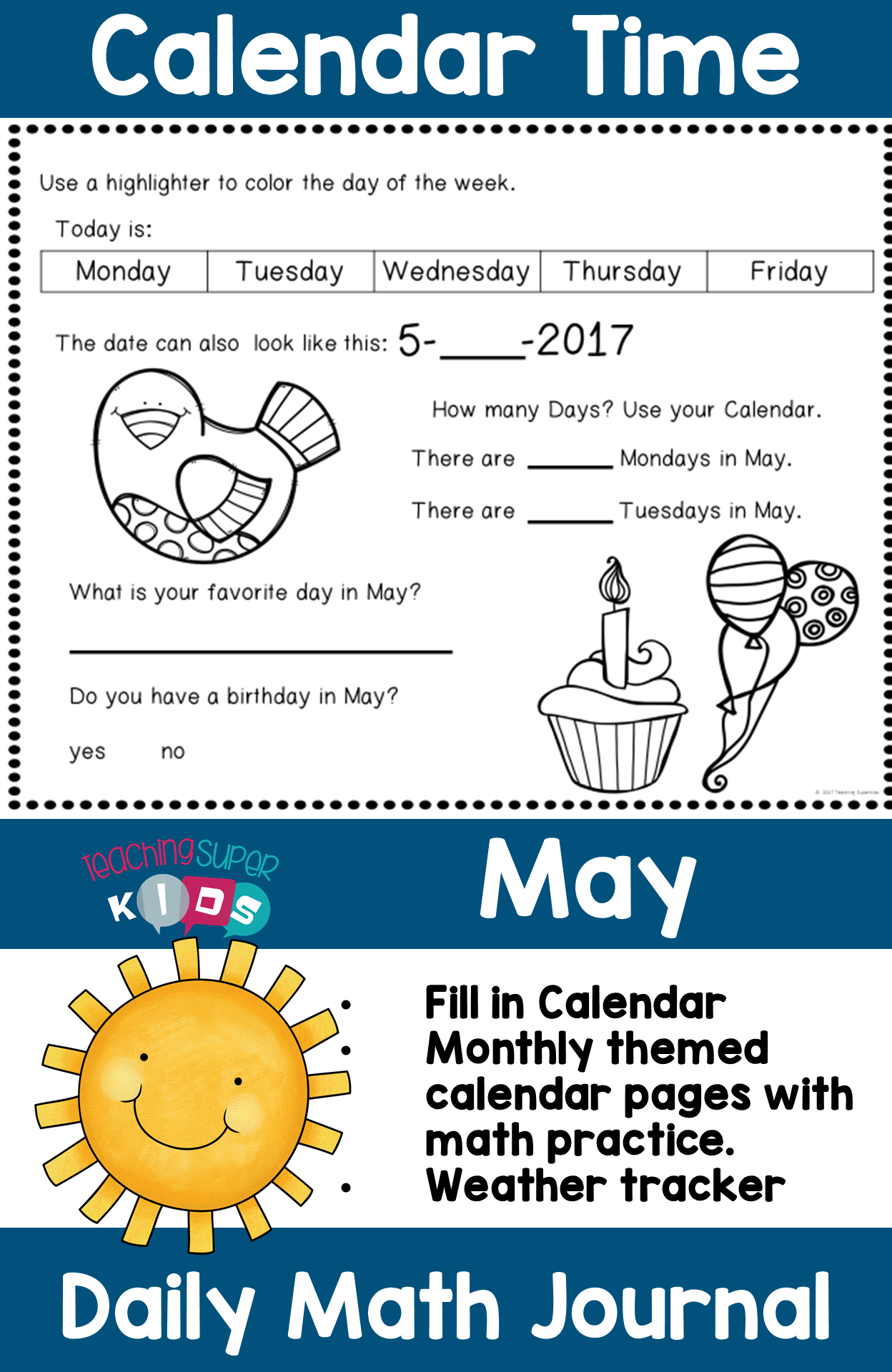 Calendar Activities May