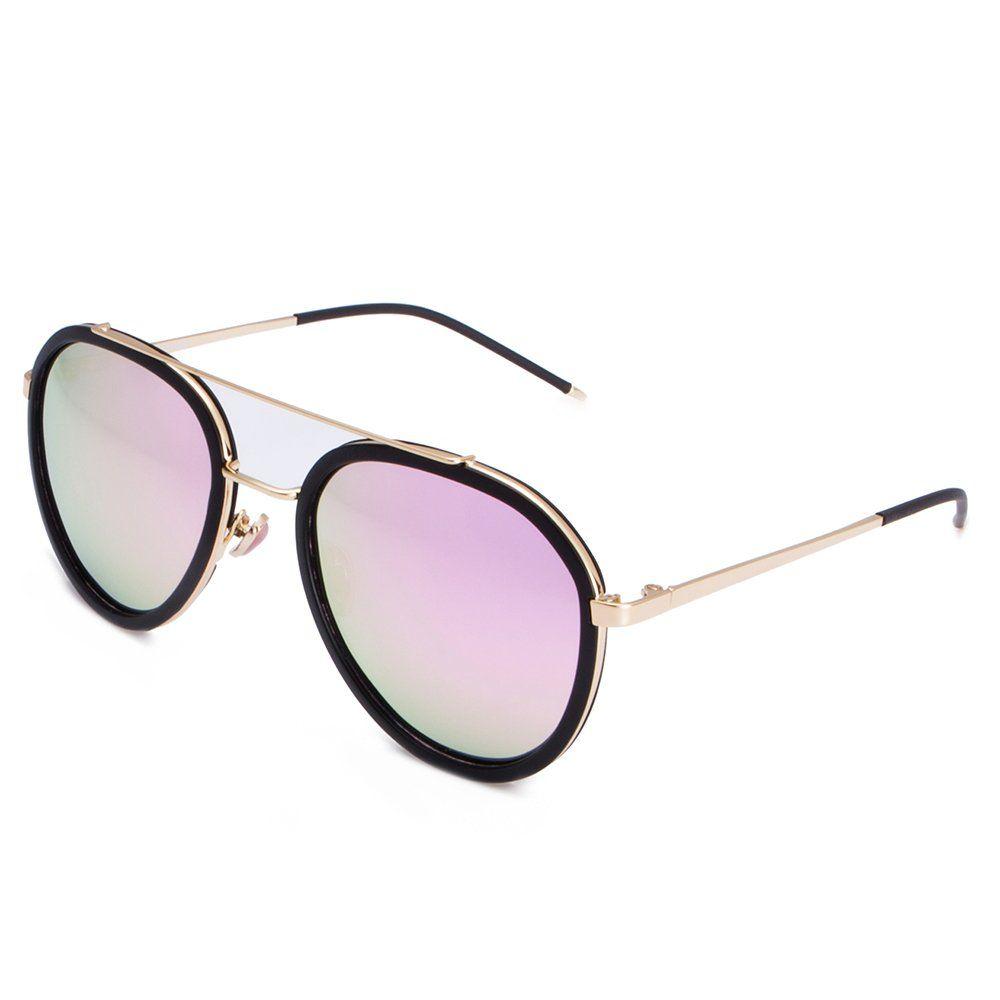 5fa5e304924f7 Celaine Polarized Sunglasses Vintage Cat Eye Lens Metal Frame Womens  Sunglasses UV400 Protection Black With Pink