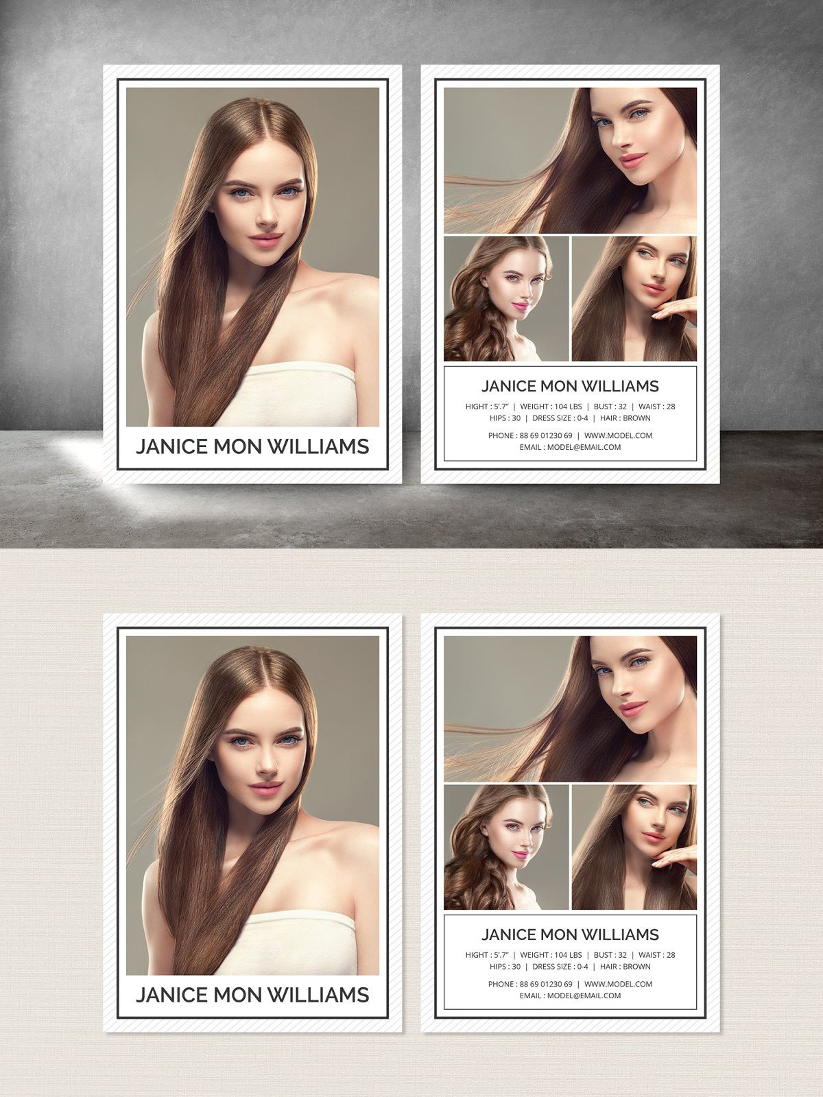 Modeling Comp Card Model Comp Card Card Template Printable Playing Cards