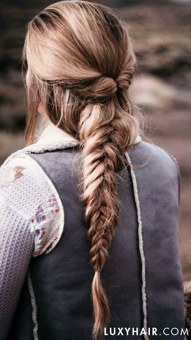 Learn how to create a big fishtail braid for a dramatic look!