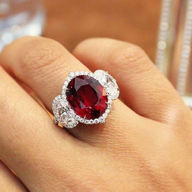 When A Woman Loves A Ruby Ring This Is The One To Beat Bayco