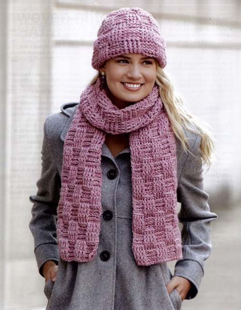 Basket Weave Stitch Cowl Neck Warmer Free Crochet Pattern By