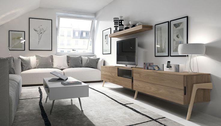 Salones y comedores modernos retro dise o de mobiliario pinterest sal n moderno - Salones modernos diseno ...