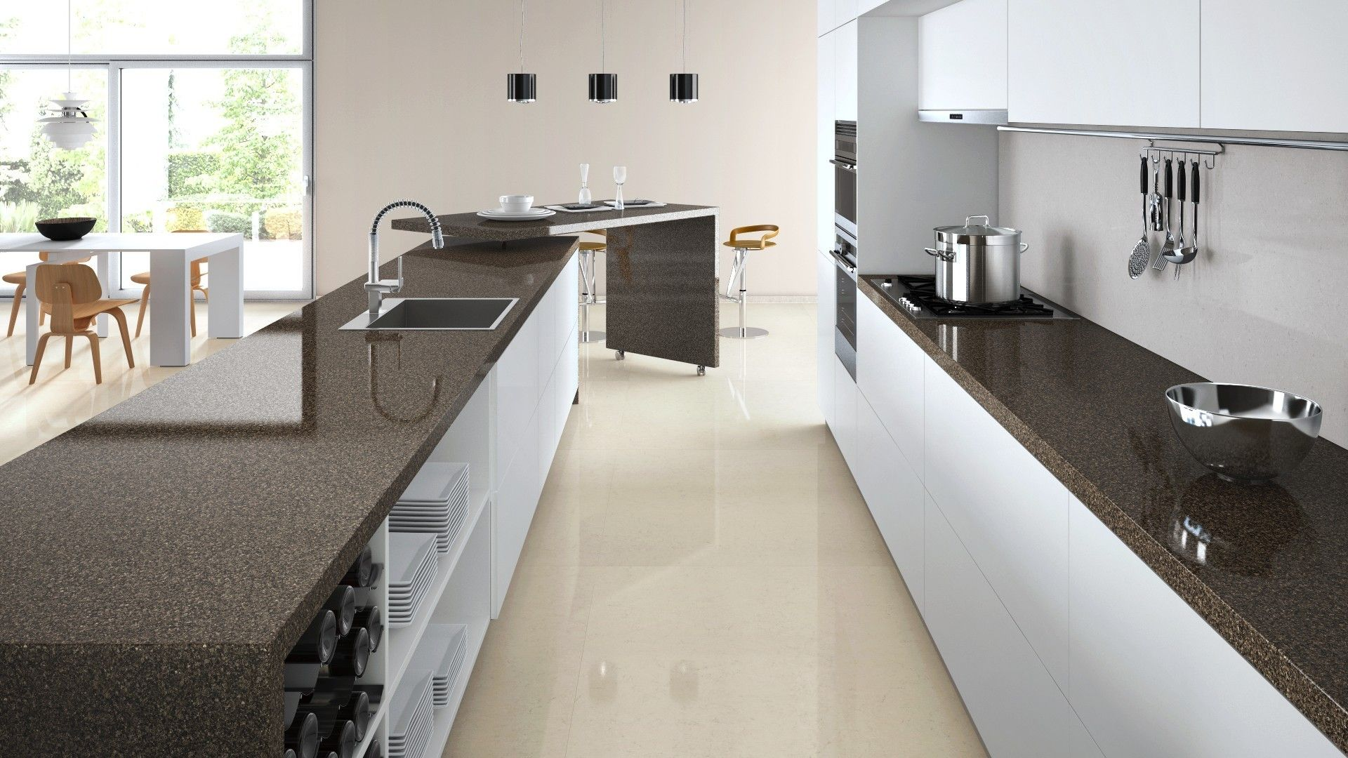 kitchen design visualiser. Caesarstone visualiser  Wild Rocks GR Majestic 40 kitchen