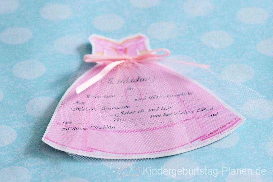 Einladung Prinzessin Geburtstag: Ein Schönes Kleid Für Cinderella Und Schon  Kann Der Ball Starten.