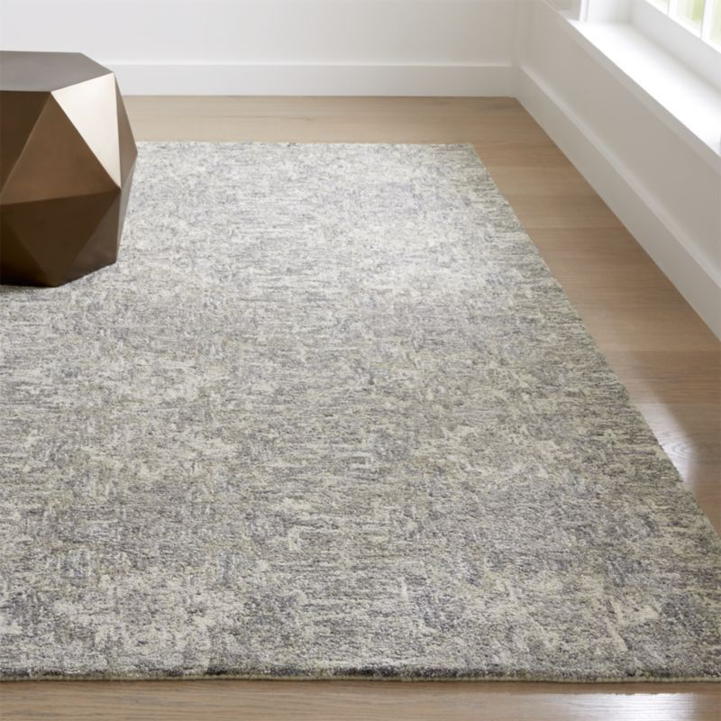 Alvarez Wool And Viscose Rug Crate And Barrel Hand Tufted Rugs Rugs Patterned Carpet