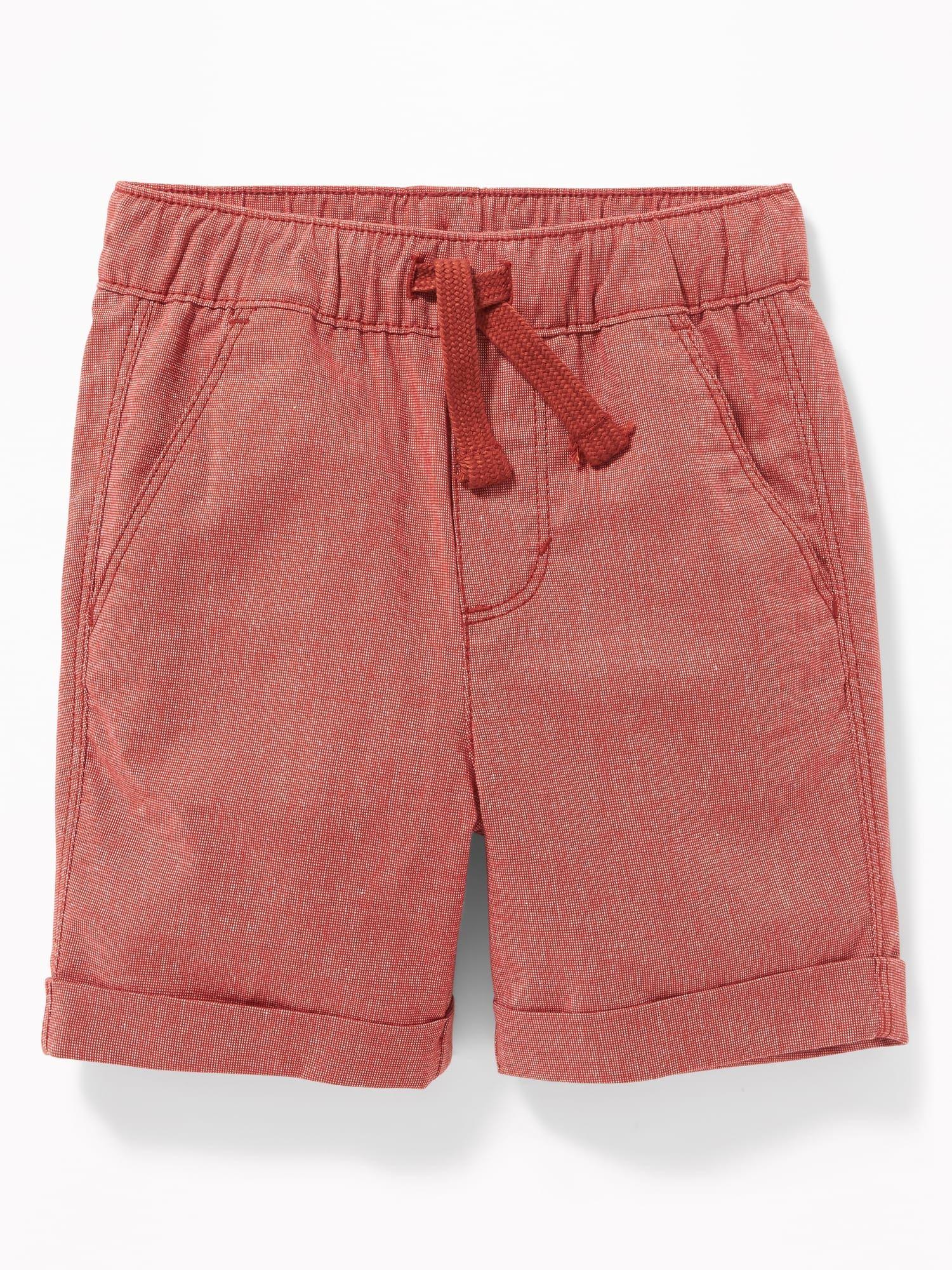 af06219c7ab Functional Drawstring Built-In Flex Pull-On Madras Shorts for Toddler Boys