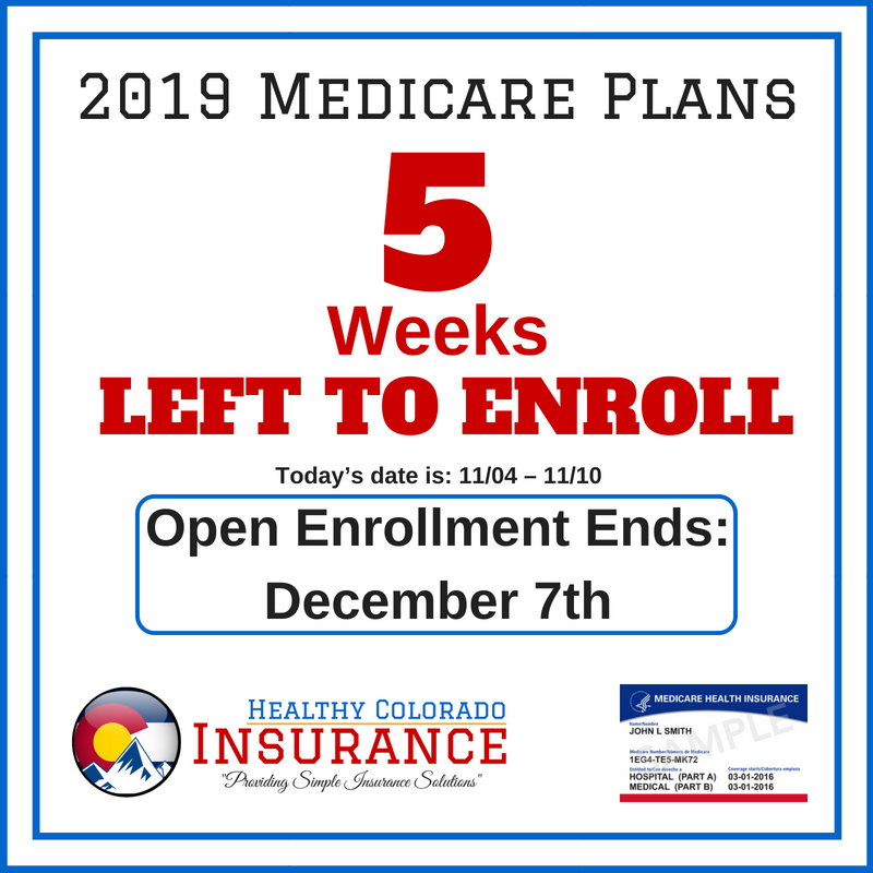 It Is The Medicare Annual Enrollment Period You Have 5 Weeks To