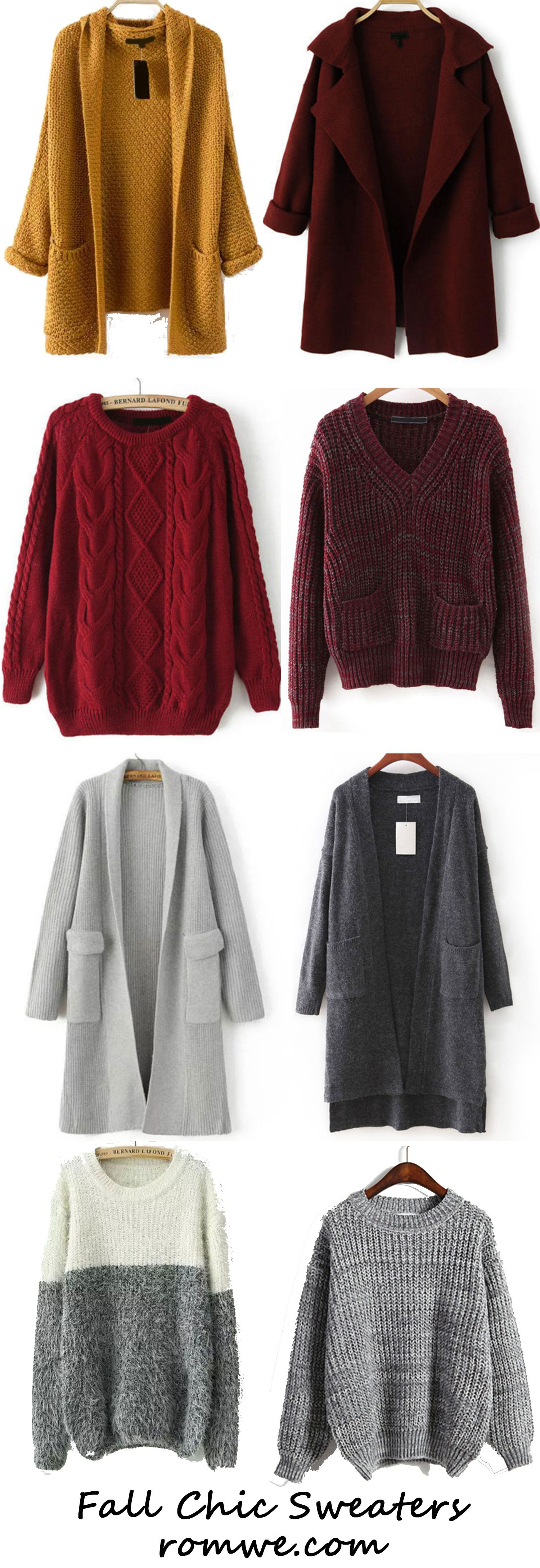 Fall Fashion - Cozy and Pretty Sweaters from romwe.com | |My ...