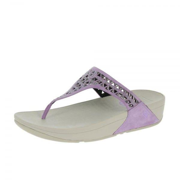 ae54013e35732d FitFlop™ Carmel™ Toe Post Plumthistle Sandals