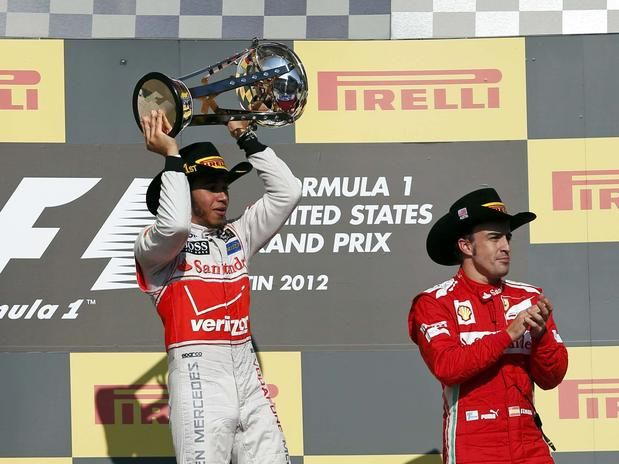 Hamilton - winner of the United States Formula One Grand Prix at the Circuit of the Americas on November 18, 2012 in Austin, Texas. Foto: Reuters.